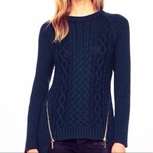 MICHAEL Michael Kors Navy Cable Knit Sweater S